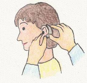 補聴器を調整し、実際に体験します