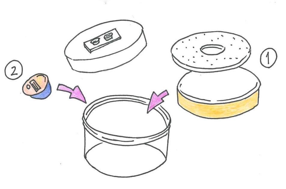 乾燥剤が入っているケース。(乾燥剤は2~3ヶ月に交換)入浴時、就寝時の外した時に補聴器を入れて下さい。