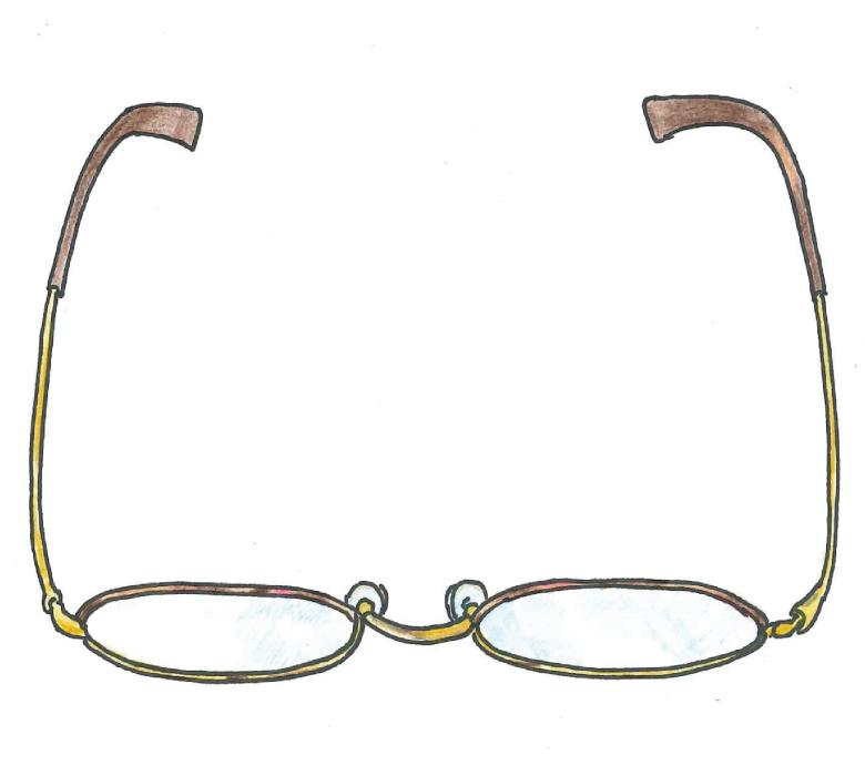 普段メガネ