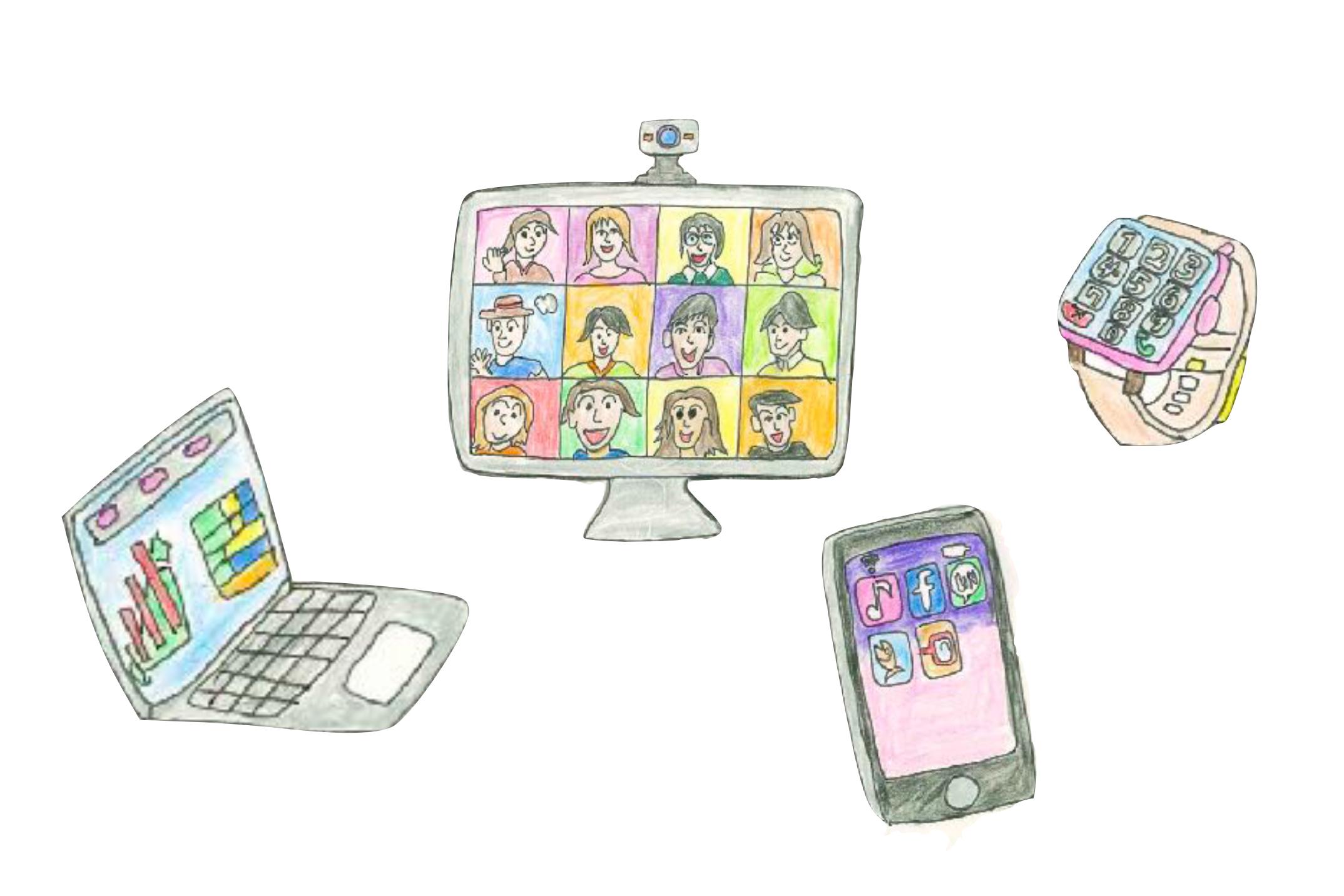 スマートフォンやモバイル端末を通してリモートワークやネット会議、そして移動しながら画面の中と外を見て 仕事をすることもあります。