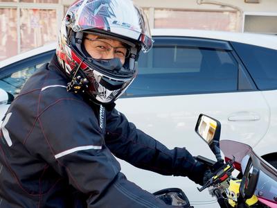 バイク用度付きメガネ
